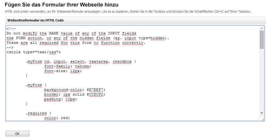 sendeffect-formular-html-code