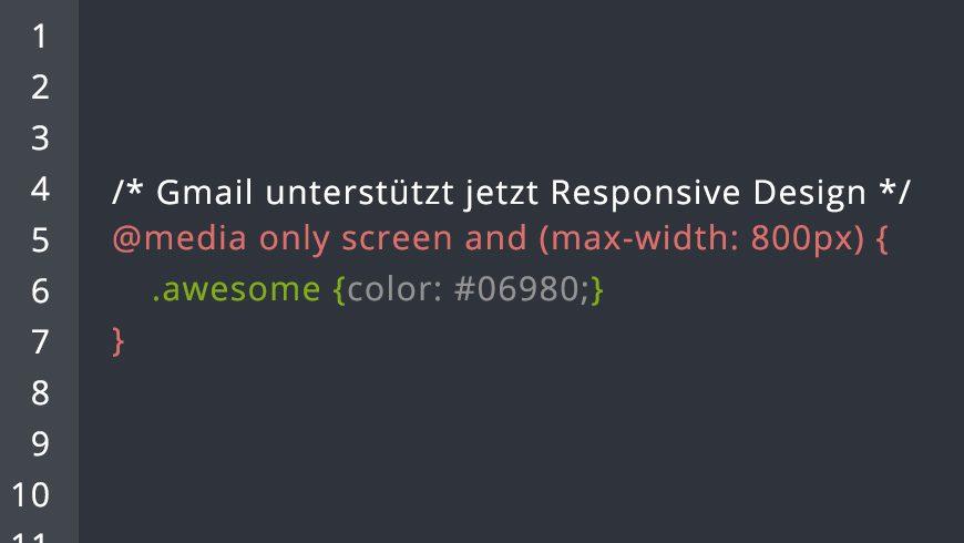 Gmail unterstützt jetzt Responsive Design