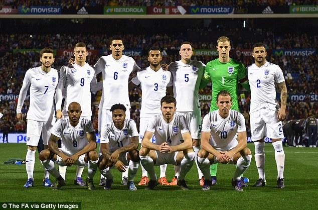 Mannschaftsfoto für England