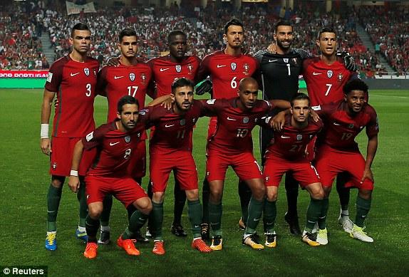 Mannschaftsfoto für Portugal