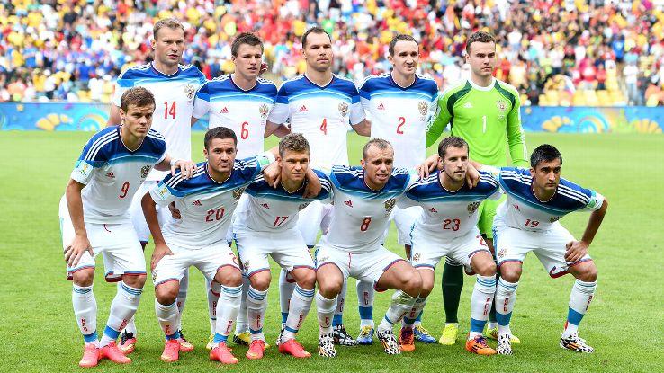 Mannschaftsfoto für Russia