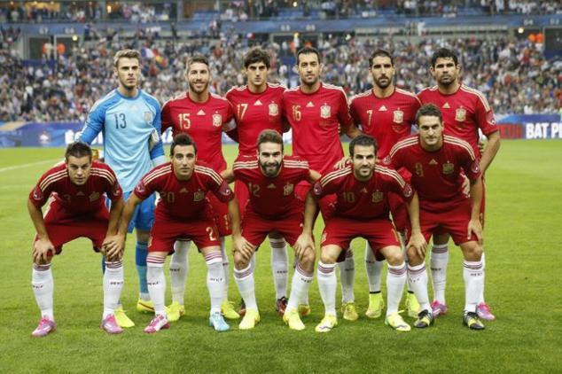 Mannschaftsfoto für Spain